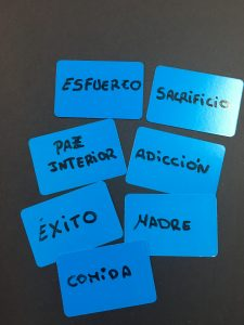 Ejemplos de tarjetas azules
